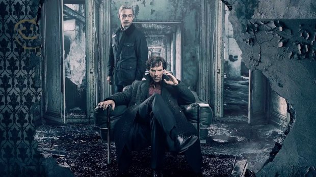 Sherlock and John in Baker Street